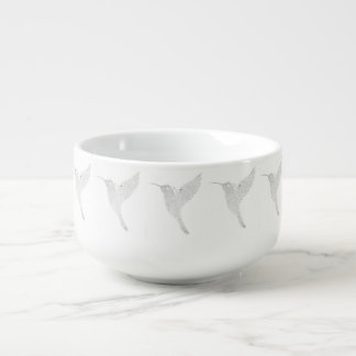 Hummingbird Jamming Out Soup Bowl With Handle