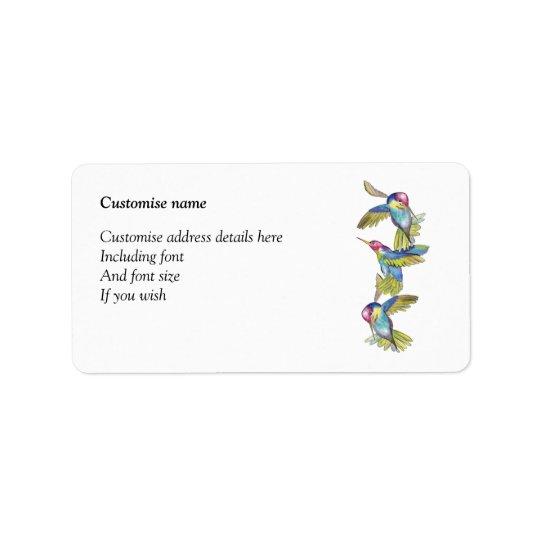 Hummingbird labels (a272)