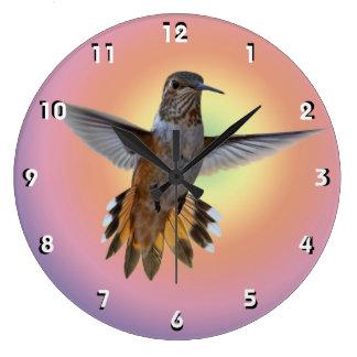 HUMMINGBIRD LARGE CLOCK