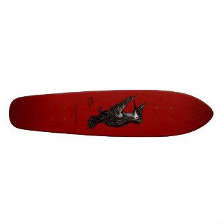 Hummingbird Logo Red Skate Board Deck