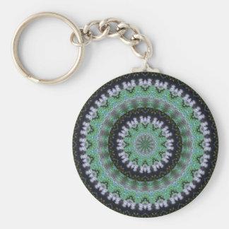 Hummingbird Mandala Basic Round Button Key Ring
