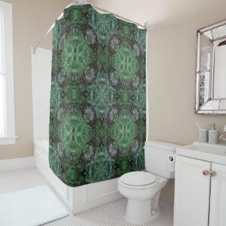 Hummingbird Mandala Shower Curtain