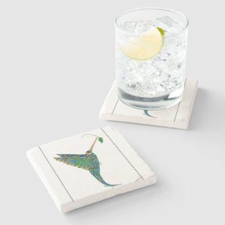 Hummingbird marble coaster stone coaster