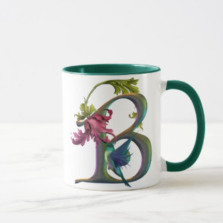 Hummingbird Monogram B Mug