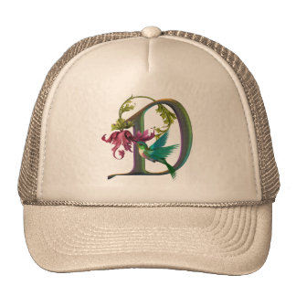 Hummingbird Monogram D Trucker Hat