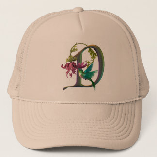 Hummingbird Monogram D Trucker Hat