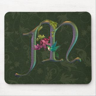 Hummingbird Monogram M Mouse Pad