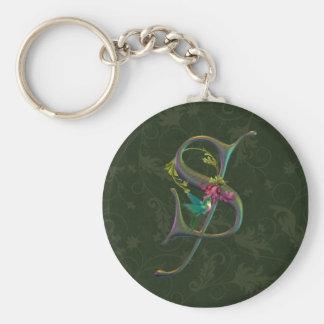 Hummingbird Monogram S Keychain