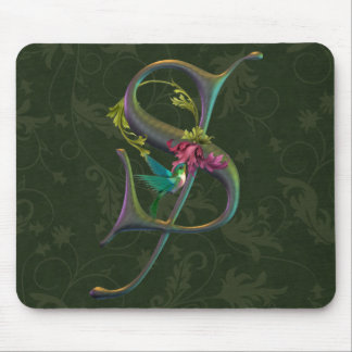 Hummingbird Monogram S Mouse Mat