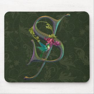 Hummingbird Monogram S Mouse Pad
