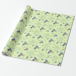 Hummingbird Nectar Recipe Gift Wrap