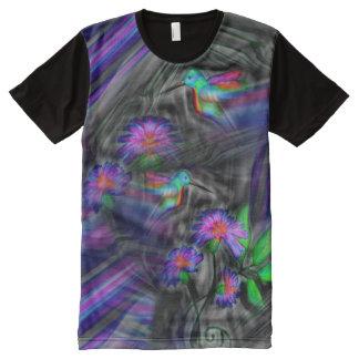 Hummingbird Night Flight Shirt All-Over Print T-Shirt