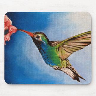 Hummingbird Oil Painting  Mousepad