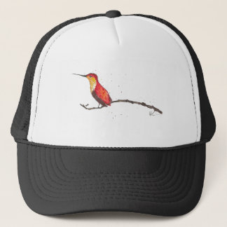 Hummingbird on Branch Trucker Hat
