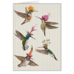 Hummingbird party card