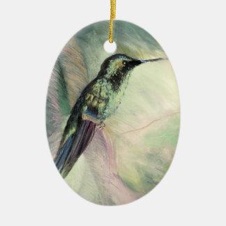 Hummingbird Pastel Fine Art Christmas Ornament