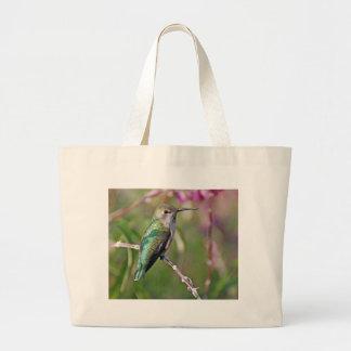 Hummingbird Perch II Jumbo Tote Bag