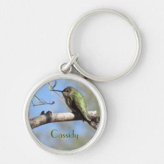 Hummingbird Personalizable Keychain