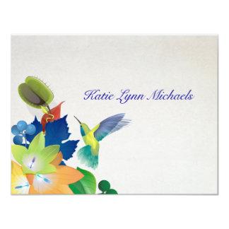 Hummingbird Personalized Notecard