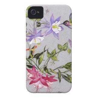 Hummingbird Petals Wrap-Around iPhone 4 Case-Mate Case