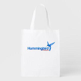 Hummingbird Photographers Grocery Bags