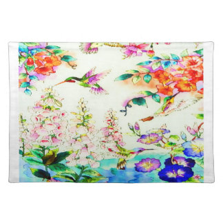 Hummingbird-Pink-Flowers Place Mat