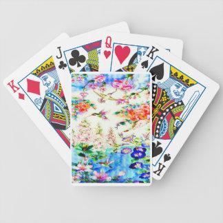 Hummingbird-Pink-Flowers Poker Deck