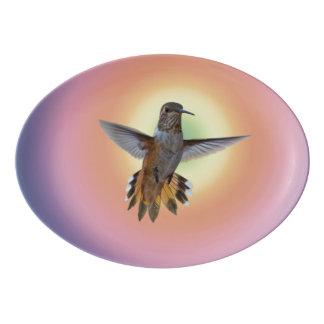 HUMMINGBIRD PORCELAIN SERVING PLATTER