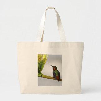 Hummingbird Posing Canvas Bags