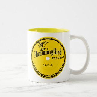 Hummingbird Records label Two-Tone Coffee Mug