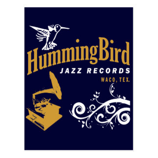 Hummingbird Records Postcard