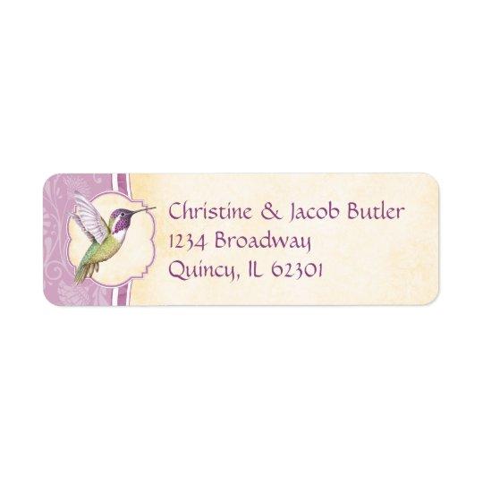 Hummingbird Return Address Label
