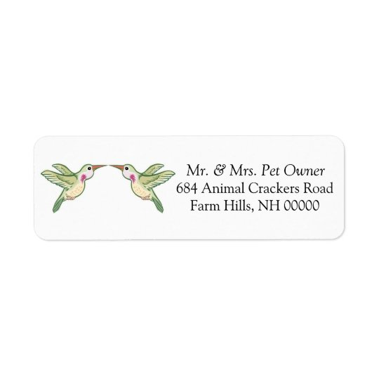 Hummingbird Return Address Labels Stickers