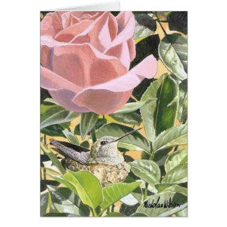 "Hummingbird & Rose ""LITTLE MOM"" Card"