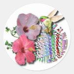 Hummingbird Round Sticker