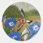 Hummingbird Round Stickers