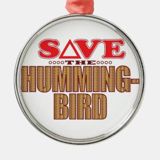 Hummingbird Save Christmas Ornament