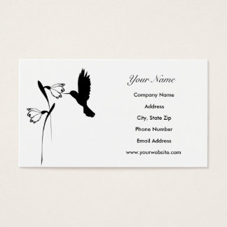 Hummingbird Silhouette Business Cards