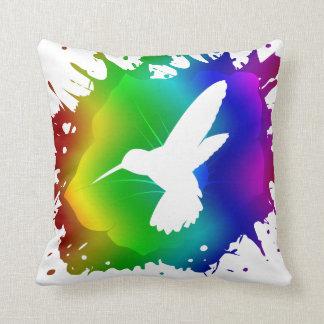 Hummingbird Splash Cushion