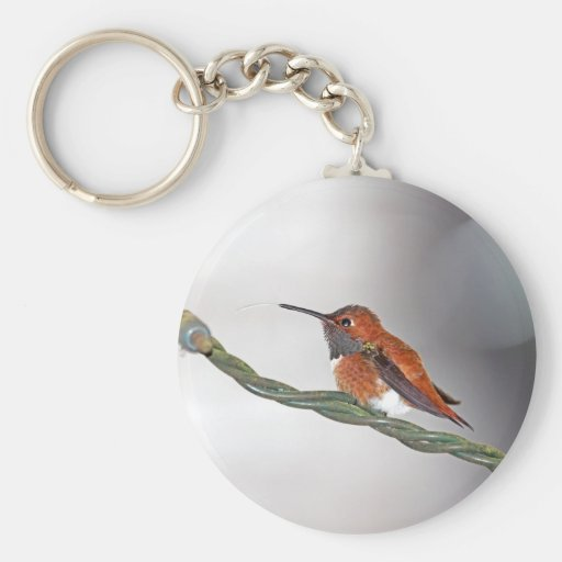 Hummingbird Sticking Out Tongue Keychain