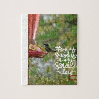 Hummingbird Sunshine in my Soul Jigsaw Puzzle