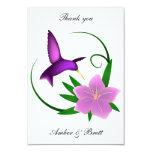 'Hummingbird' thank you note Invites