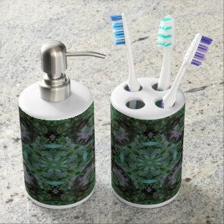 Hummingbird Toothbrush Holder & Soap Dispenser Set