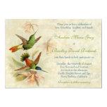 Hummingbird Vintage Floral Wedding Invitation