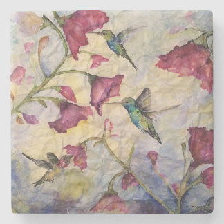 Hummingbird Watercolor Art Stone Coaster