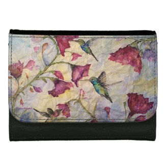 Hummingbird Watercolor Art Wallet