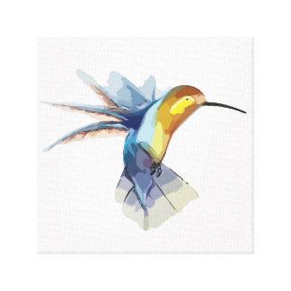hummingbird watercolor peaceful beautiful drawing canvas print