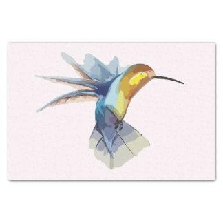 hummingbird watercolor peaceful beautiful drawing tissue paper
