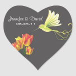 Hummingbird Wedding Favour Sticker