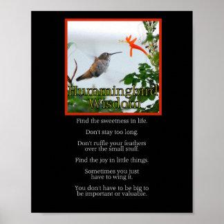 Hummingbird Wisdom Poster